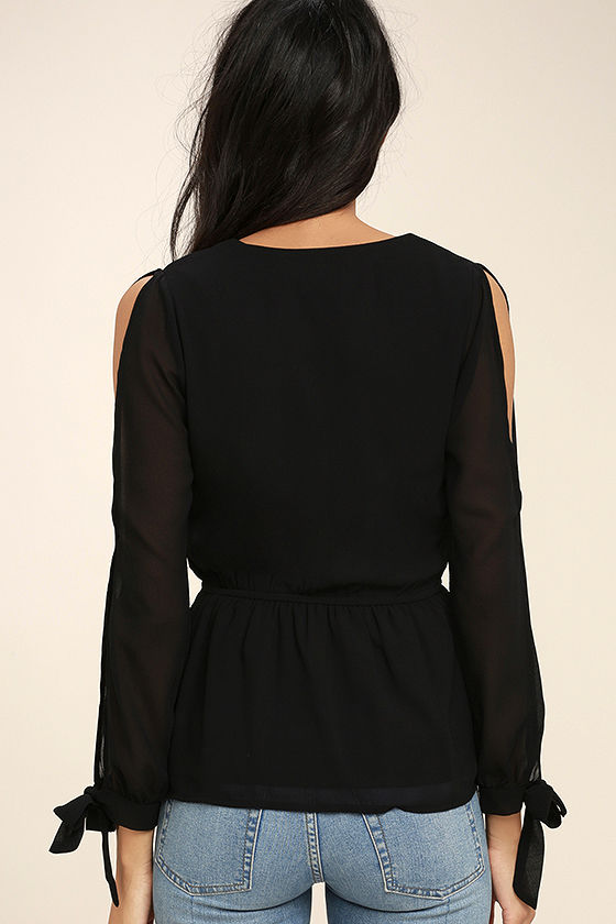 Mutual Attraction Black Long Sleeve Top 4