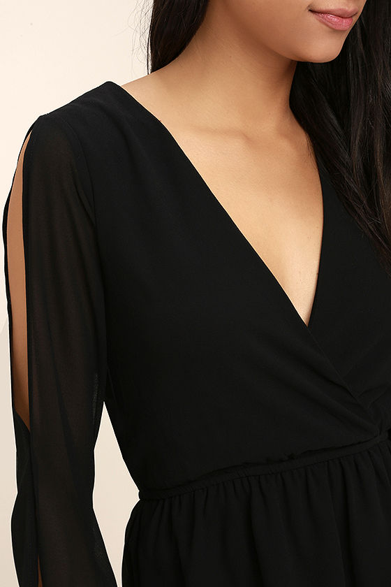 Mutual Attraction Black Long Sleeve Top 5