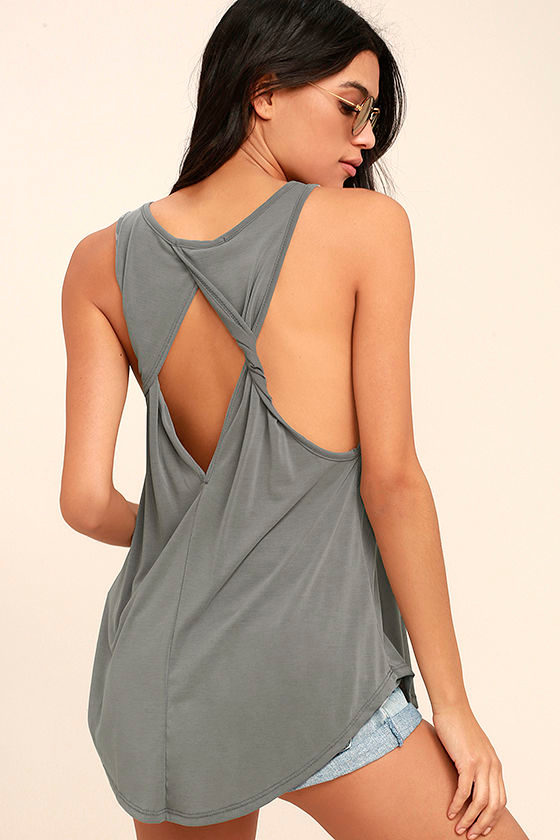 PPLA Flynn Grey Tank Top 1