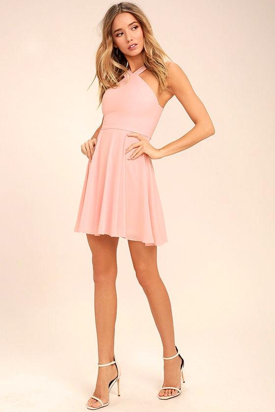 Forevermore Light Pink Skater Dress 2