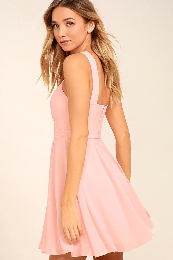 Forevermore Light Pink Skater Dress 3