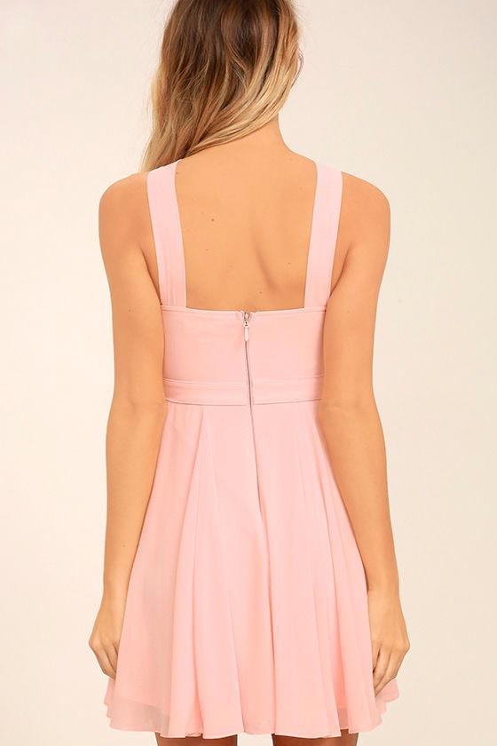 Forevermore Light Pink Skater Dress 4