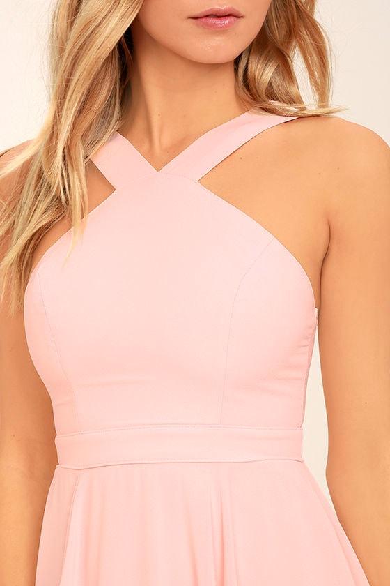 Forevermore Light Pink Skater Dress 5