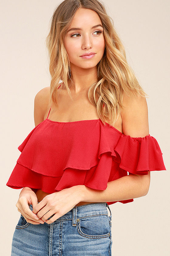 Fashion sexy off the shoulder coral