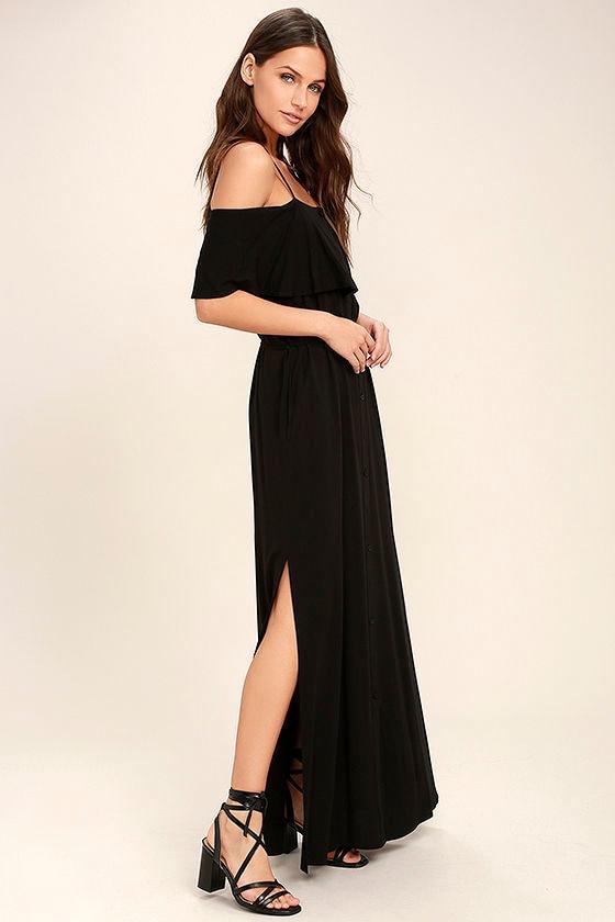 Life's Wonders Black Off-the-Shoulder Maxi Dress 2