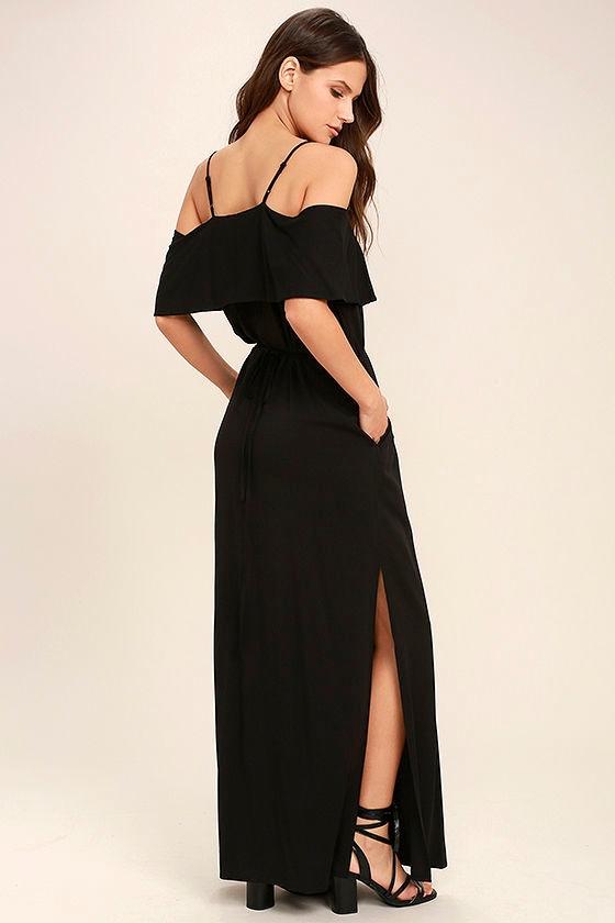 Life's Wonders Black Off-the-Shoulder Maxi Dress 3