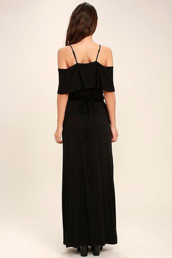 Life's Wonders Black Off-the-Shoulder Maxi Dress 4