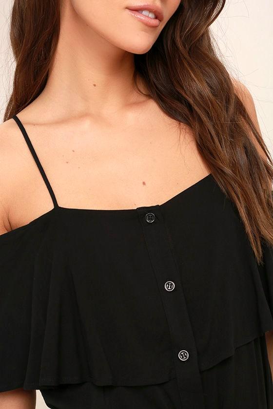 Life's Wonders Black Off-the-Shoulder Maxi Dress 5