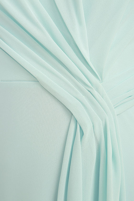 Romantic Ballad Mint Blue Strapless Maxi Dress 6
