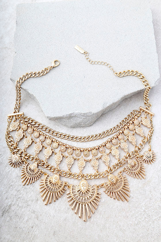 Made For This Gold Statement Necklace 1