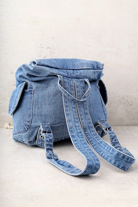 Rock with You Blue Denim Backpack 3