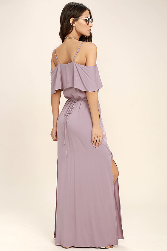 Life's Wonders Mauve Off-the-Shoulder Maxi Dress 3