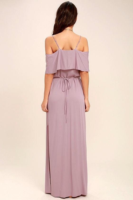 Life's Wonders Mauve Off-the-Shoulder Maxi Dress 4