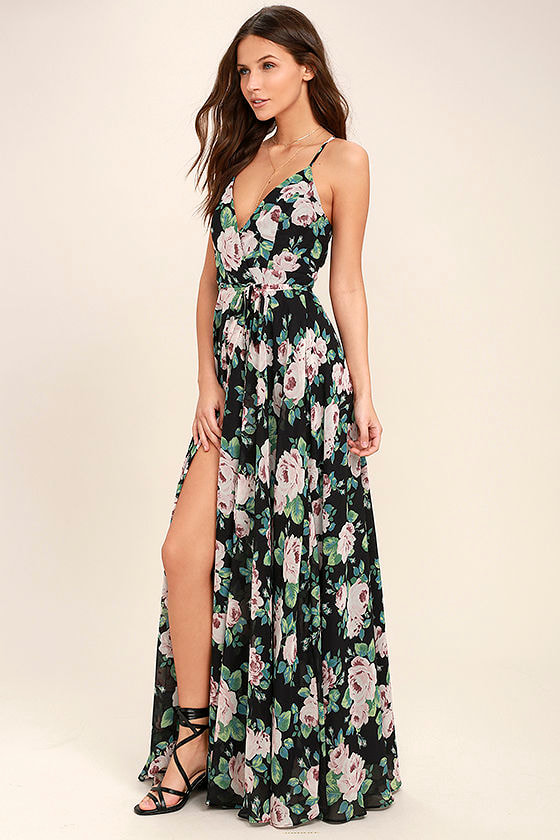 Dark Floral Maxi Dresses Dress For The Wedding
