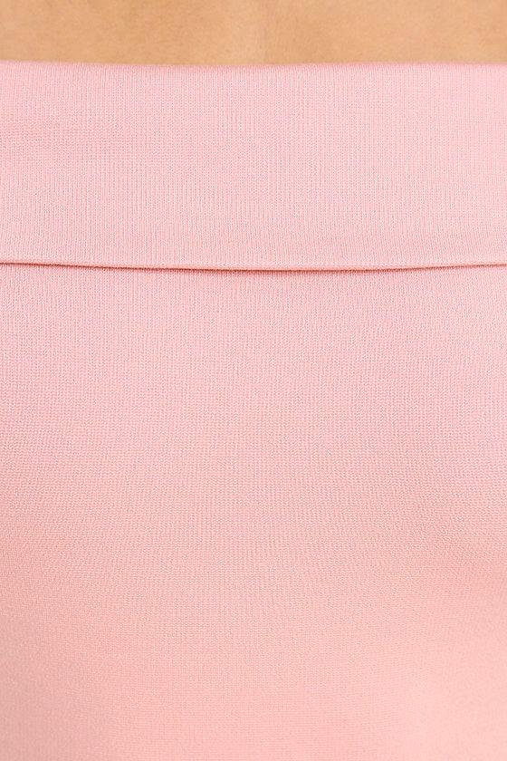 Season of Fun Blush Pink Off-the-Shoulder Skater Dress 6