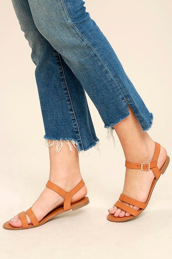 Euphrates Tan Flat Sandals 2