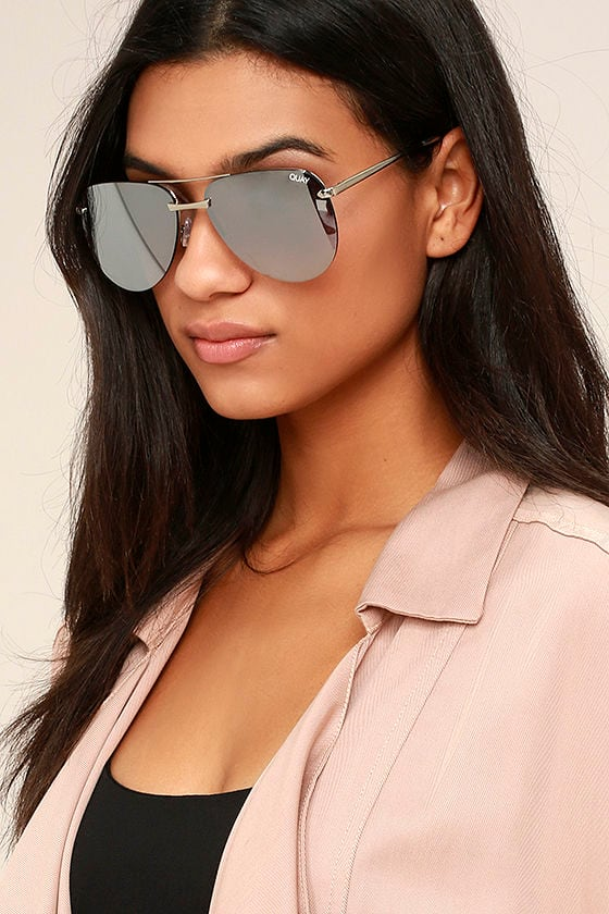 Quay The Playa Sunglasses Grey And Silver Sunglasses