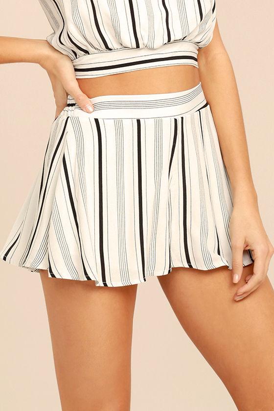 Cute White Shorts - Striped Shorts - High-Waisted Shorts - $33.00