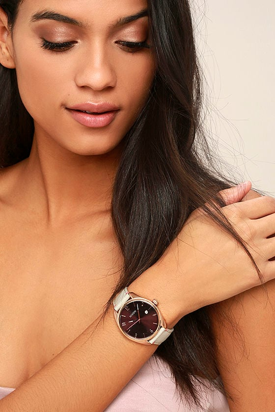 Nixon Bullet Rose Gold and Brown Leather Watch 1