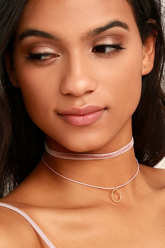 Cotton Candy Crush Pink Choker Necklace Set 1