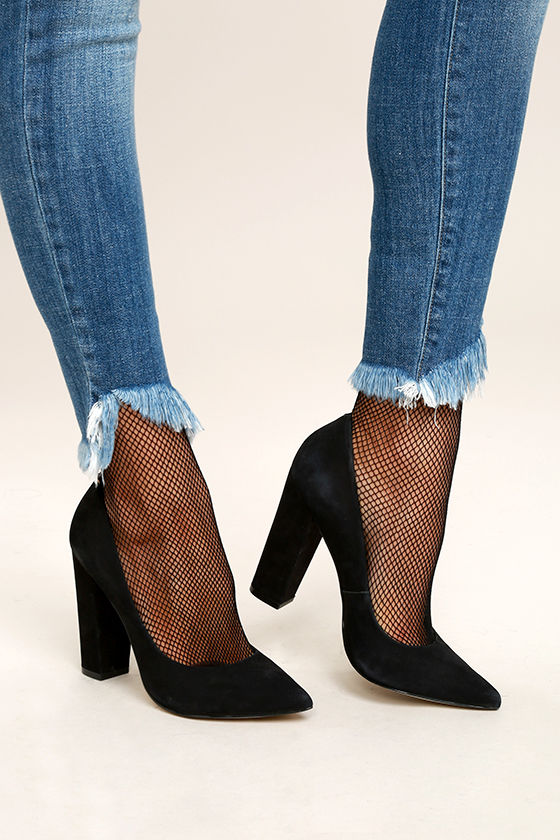 Mighty Fine Black Fishnet Socks 1