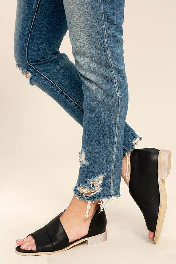 Stylish Black Flats D Orsay Flats Peep Toe Flats 52 00