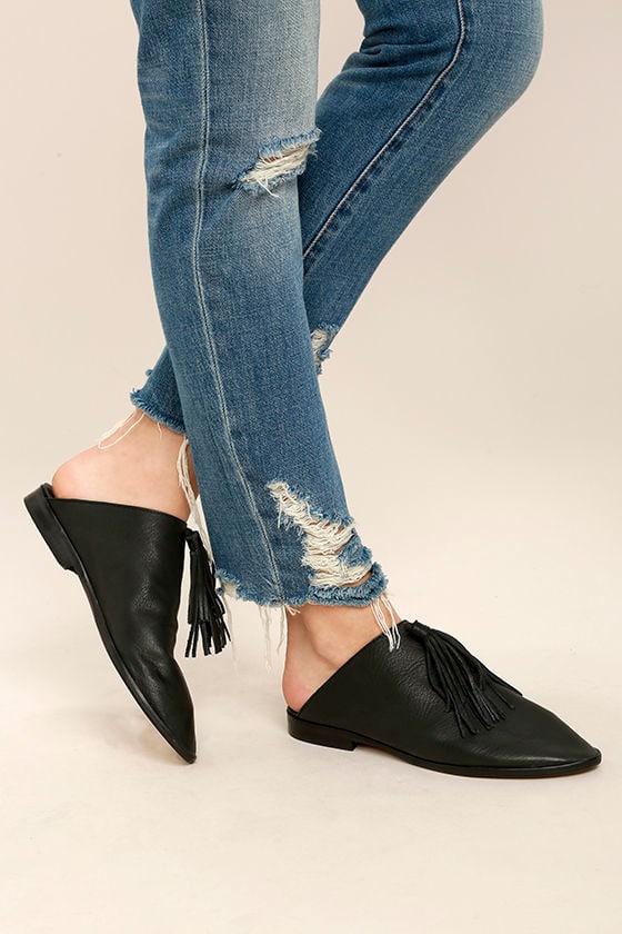 Matisse Arabian Black Leather Mules 1