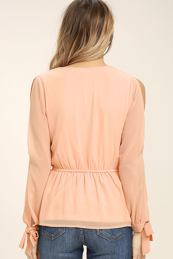 Mutual Attraction Peach Long Sleeve Top 4