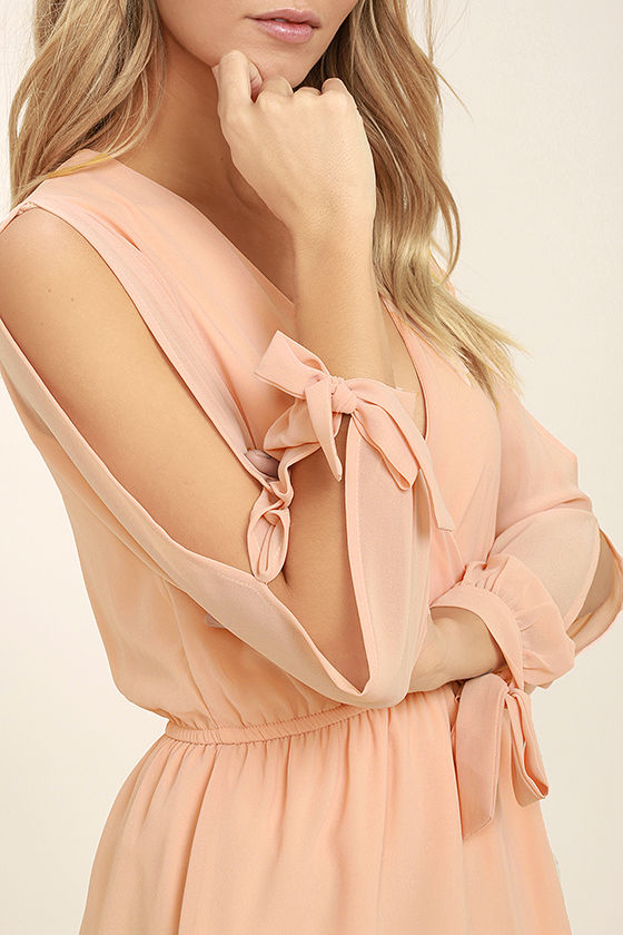 Mutual Attraction Peach Long Sleeve Top 5