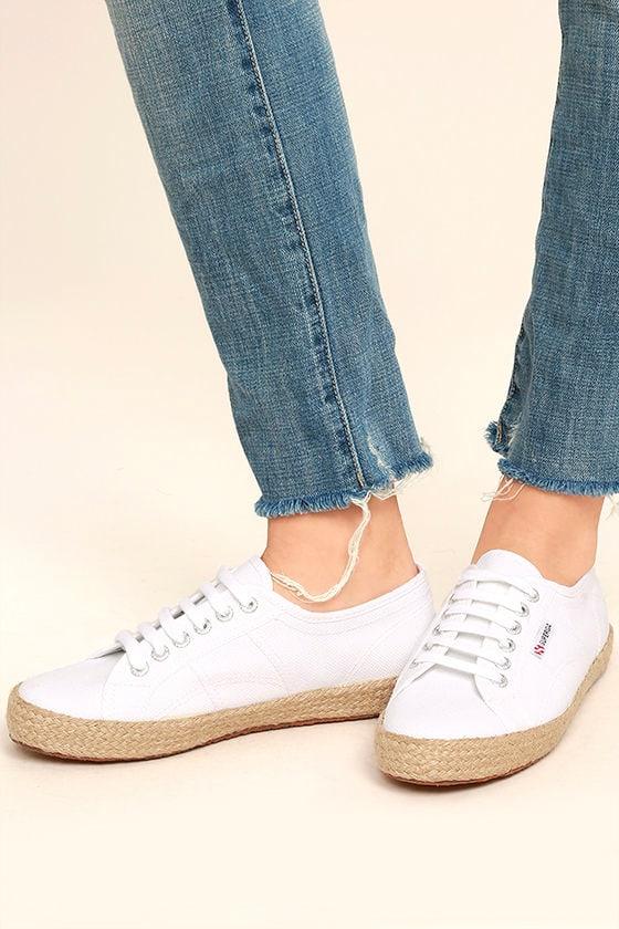 996f9ef01 Superga 2750 COTROPEU - White Espadrille Sneakers - White Sneakers ...