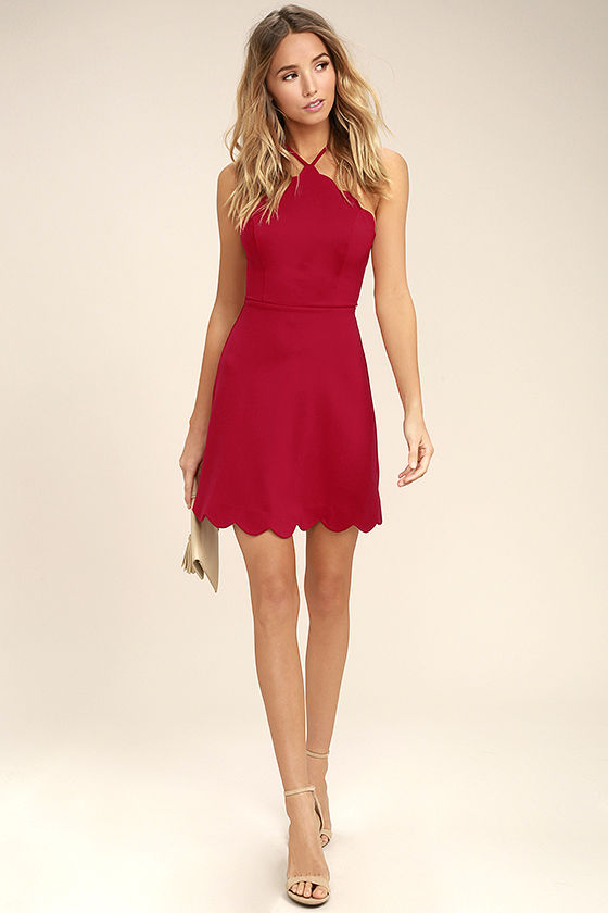 Your Everything Red Backless Skater Dress 2