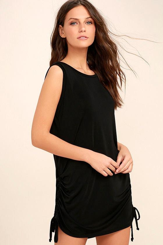 Hey Girl Black Shift Dress 3