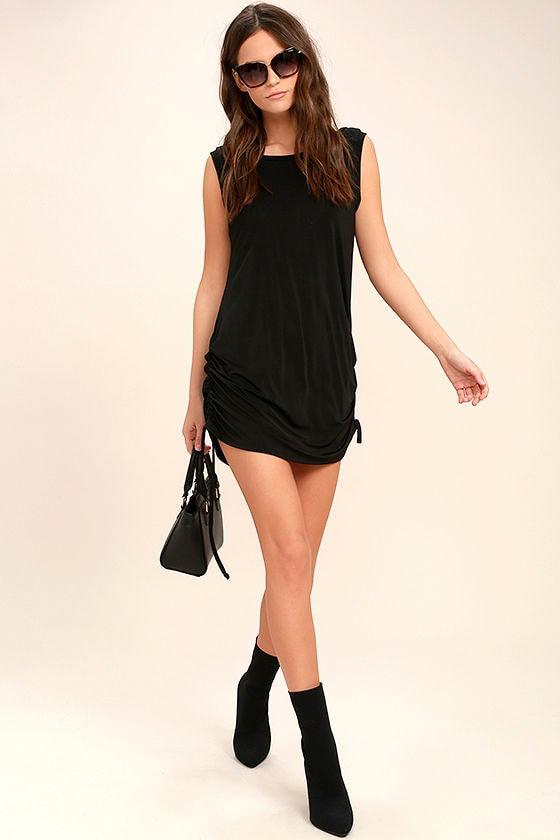 Hey Girl Black Shift Dress 2