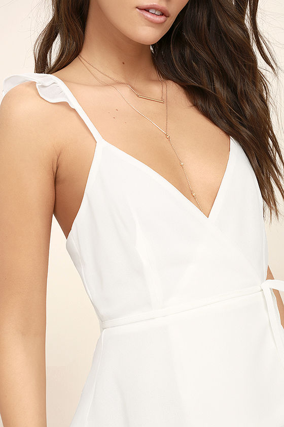 Totally In Love White Wrap Top 5