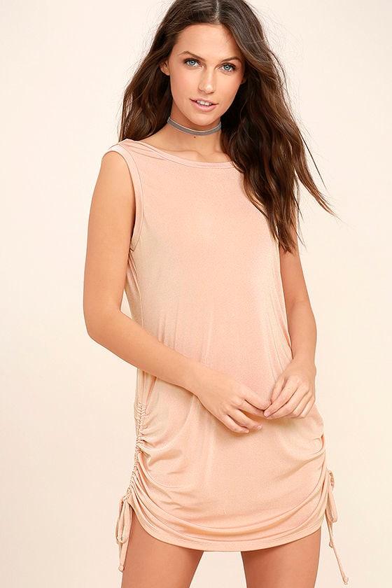 Hey Girl Blush Pink Shift Dress 3