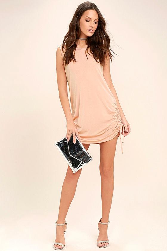 Hey Girl Blush Pink Shift Dress 2