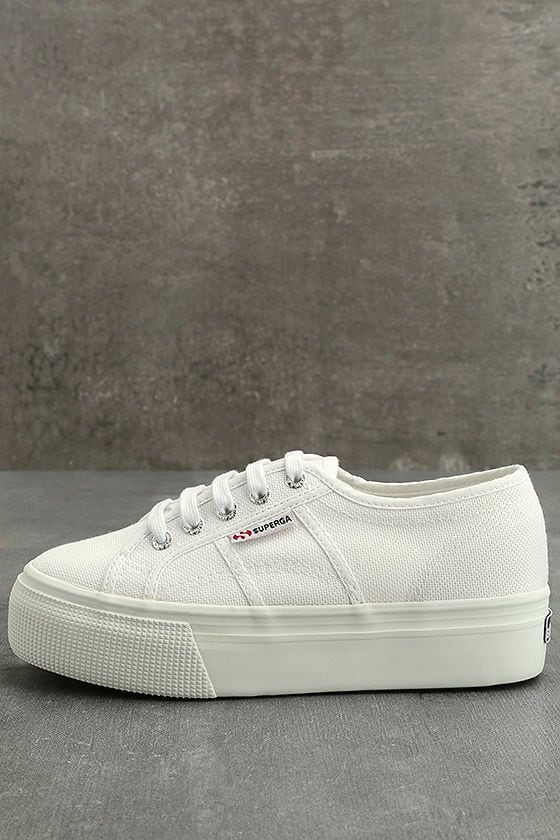 a89ecaea99a Superga 2790 ACOTW Linea Up and Down - White Sneakers - Platform ...