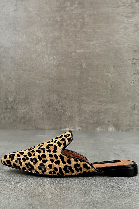 c028294c589 Steven by Steve Madden Valent L - Leopard Pony Fur Slides - Loafer ...