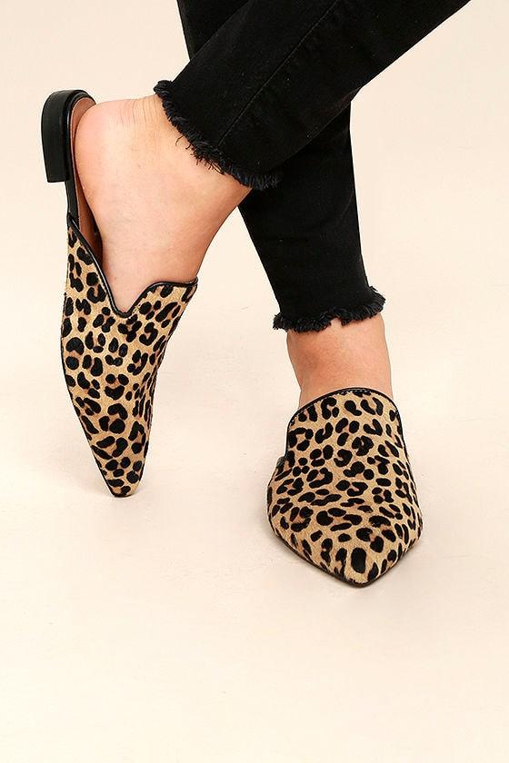 e2a1859444f Steven by Steve Madden Valent L - Leopard Pony Fur Slides - Loafer Slides