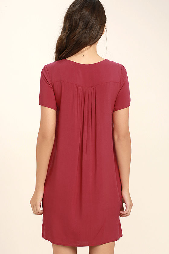 Down in Kokomo Red Embroidered Lace-Up Dress 4