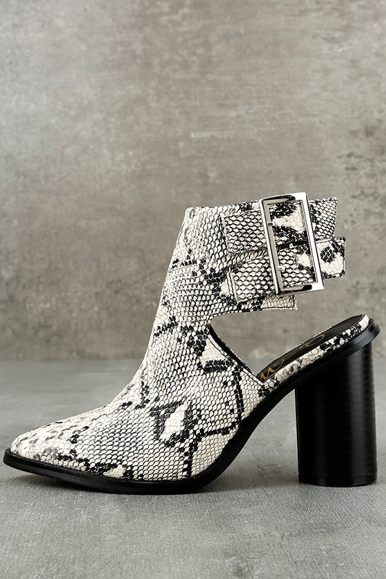 Keelin Snake Pointed Ankle Booties 2