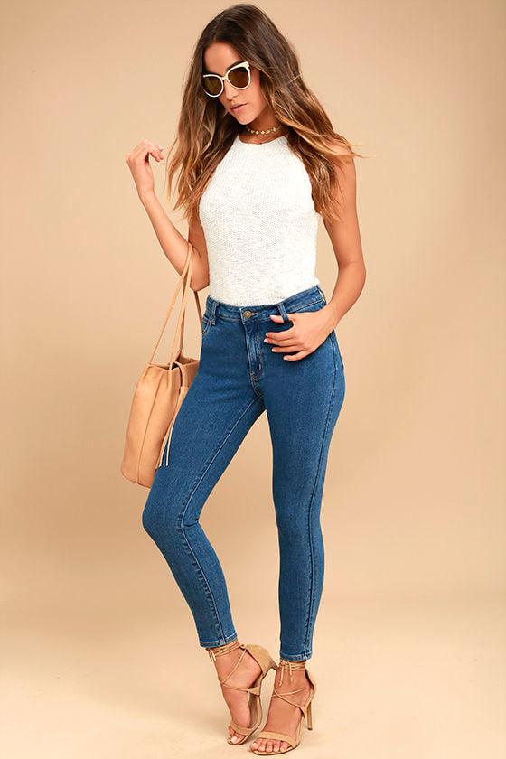 Rollas Westcoast Staple Dark Blue Skinny Jeans 1