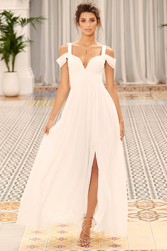 Bariano Ocean of Elegance Ivory Maxi Dress 2