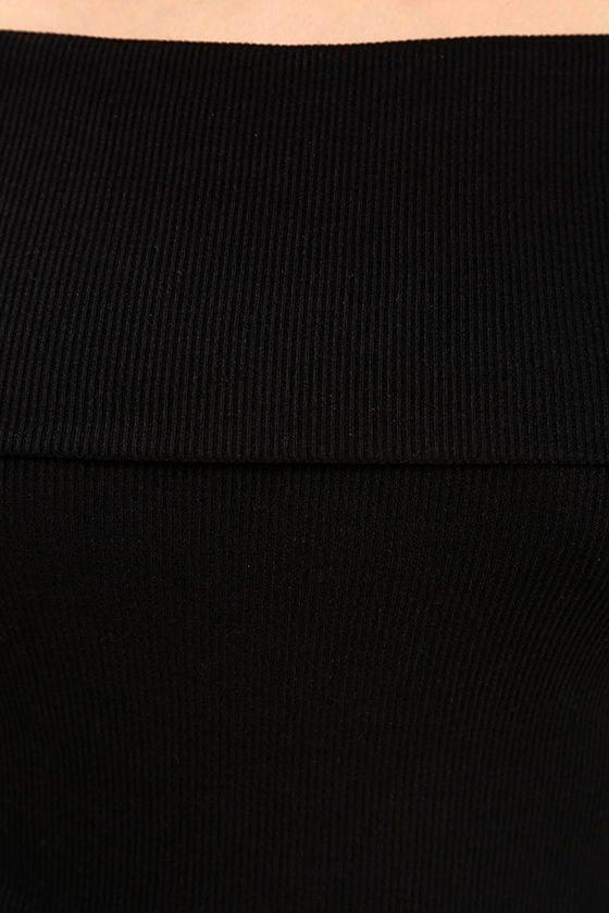 Goal-Oriented Black Off-the-Shoulder Bodysuit 7