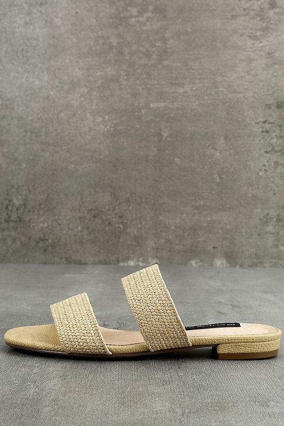 Steven by Steve Madden Friendsy Natural Multi Slide Sandals 2