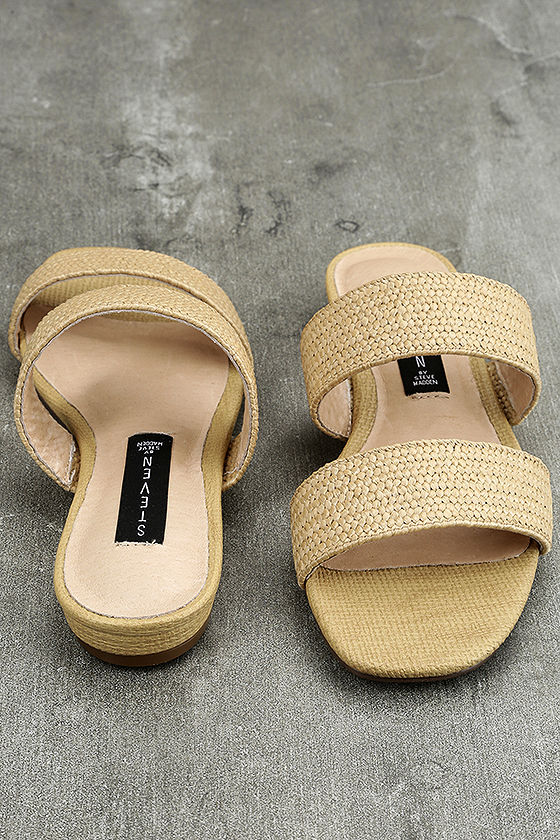 Steven by Steve Madden Friendsy Natural Multi Slide Sandals 3