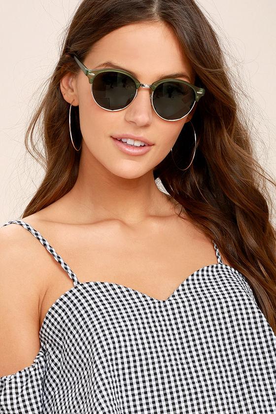 Digging It Matte Olive Green Sunglasses 1