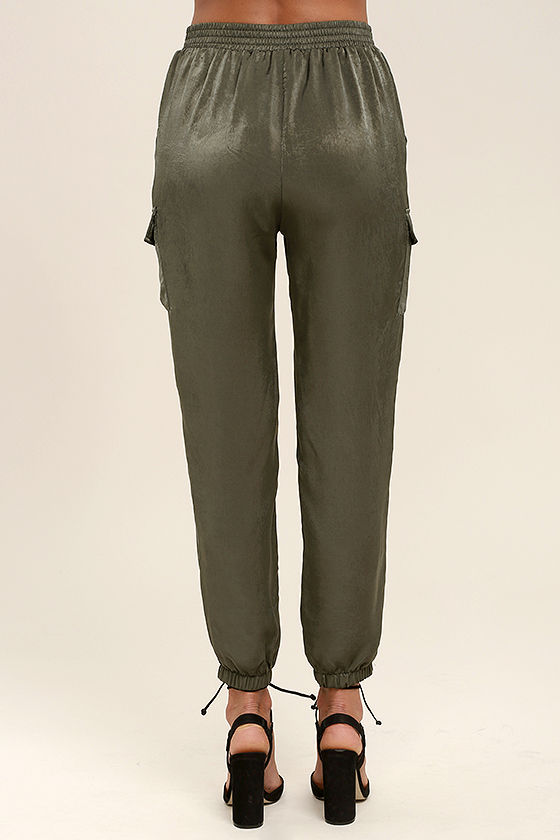 Up and at 'Em Olive Green Jogger Pants 4