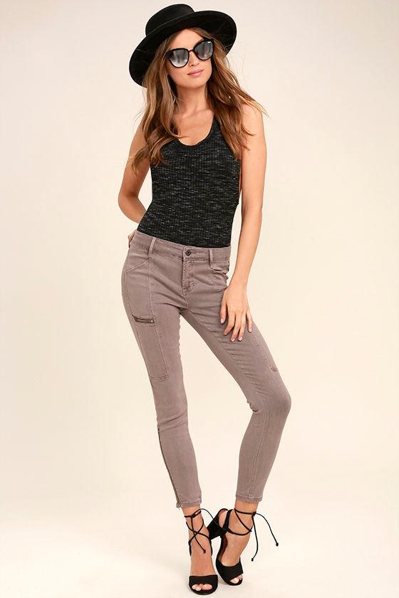 Self-Assured Washed Mauve Skinny Jeans 1