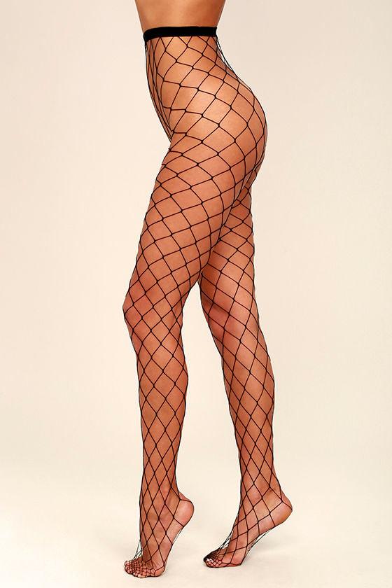 602500829b1 Sexy Black Fishnet Tights - Wide Fishnet Tights - Black Fishnets ...